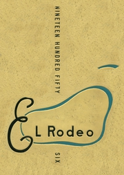 1956 Edition, Merced Union High School - El Rodeo Yearbook (Merced, CA)