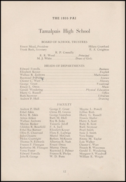 Page 16, 1935 Edition, Tamalpais High School - Pai Yearbook (Mill Valley, CA) online yearbook collection