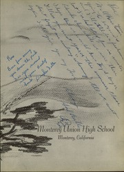 Page 7, 1952 Edition, Monterey High School - El Susurro Yearbook (Monterey, CA) online yearbook collection