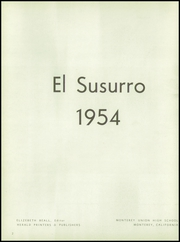 Page 6, 1954 Edition, Monterey High School - El Susurro Yearbook (Monterey, CA) online yearbook collection