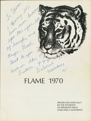Page 5, 1970 Edition, Fremont High School - Flame Yearbook (Oakland, CA) online yearbook collection