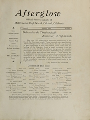 Page 3, 1934 Edition, McClymonds High School - Indian Yearbook (Oakland, CA) online yearbook collection