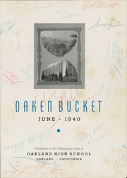 Page 5, 1940 Edition, Oakland High School - Oaken Bucket Yearbook (Oakland, CA) online yearbook collection