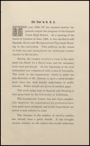 Page 15, 1907 Edition, Oxnard High School - Cardinal and Gold Yearbook (Oxnard, CA) online yearbook collection