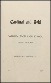 Page 7, 1907 Edition, Oxnard High School - Cardinal and Gold Yearbook (Oxnard, CA) online yearbook collection