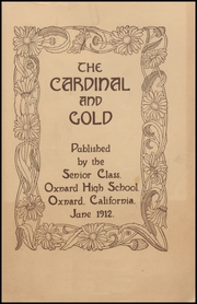 Page 5, 1912 Edition, Oxnard High School - Cardinal and Gold Yearbook (Oxnard, CA) online yearbook collection