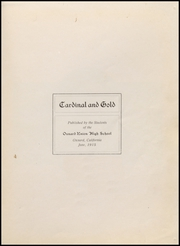 Page 5, 1915 Edition, Oxnard High School - Cardinal and Gold Yearbook (Oxnard, CA) online yearbook collection