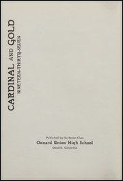 Page 4, 1937 Edition, Oxnard High School - Cardinal and Gold Yearbook (Oxnard, CA) online yearbook collection