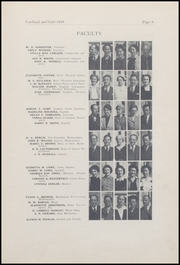 Page 13, 1939 Edition, Oxnard High School - Cardinal and Gold Yearbook (Oxnard, CA) online yearbook collection