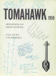 Page 5, 1959 Edition, Birmingham High School - Tomahawk Yearbook (Van Nuys, CA) online yearbook collection