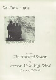 Page 5, 1952 Edition, Patterson High School - Del Puerto Yearbook (Patterson, CA) online yearbook collection