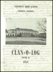 Page 5, 1958 Edition, Piedmont High School - Clan O Log Yearbook (Piedmont, CA) online yearbook collection