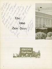 Page 6, 1966 Edition, Amador Valley High School - Don Days Yearbook (Pleasanton, CA) online yearbook collection