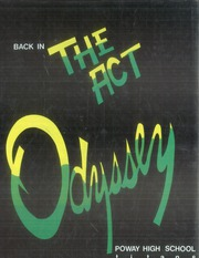 1987 Edition, Poway High School - Odyssey Yearbook (Poway, CA)