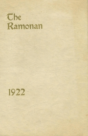 1922 Edition, Ramona High School - El Ano Yearbook (Ramona, CA)