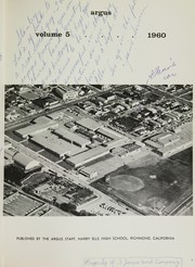 Page 5, 1960 Edition, Harry Ells High School - Crusader Yearbook (Richmond, CA) online yearbook collection