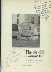 Page 5, 1951 Edition, Richmond High School - Shield Yearbook (Richmond, CA) online yearbook collection