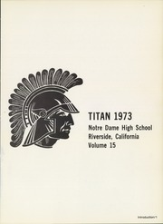 Page 5, 1973 Edition, Notre Dame High School - Titan Yearbook (Riverside, CA) online yearbook collection