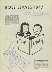 Page 5, 1947 Edition, Roseville High School - Rose Leaves Yearbook (Roseville, CA) online yearbook collection