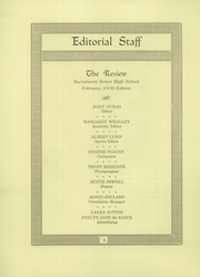 Page 10, 1930 Edition, Sacramento High School - Review Yearbook (Sacramento, CA) online yearbook collection