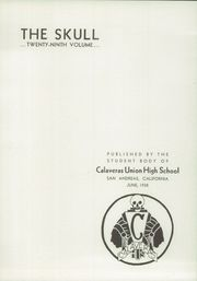 Page 7, 1938 Edition, Calaveras High School - Skull Yearbook (San Andreas, CA) online yearbook collection