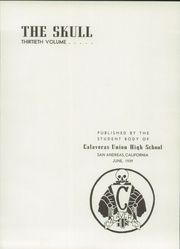 Page 7, 1939 Edition, Calaveras High School - Skull Yearbook (San Andreas, CA) online yearbook collection