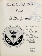 Page 5, 1966 Edition, San Carlos High School - El Don Yearbook (San Carlos, CA) online yearbook collection