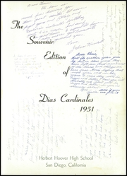 Page 5, 1951 Edition, Herbert Hoover High School - Dias Cardinales Yearbook (San Diego, CA) online yearbook collection