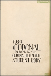 Page 11, 1934 Edition, Corona High School - Coronal Yearbook (Corona, CA) online yearbook collection