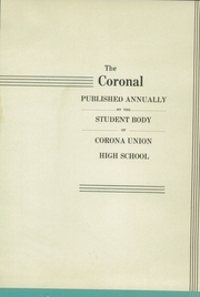 Page 5, 1937 Edition, Corona High School - Coronal Yearbook (Corona, CA) online yearbook collection