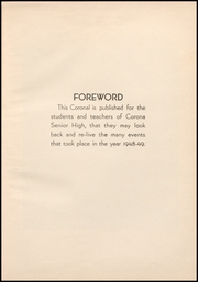 Page 7, 1949 Edition, Corona High School - Coronal Yearbook (Corona, CA) online yearbook collection