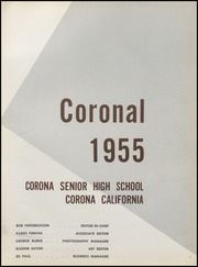 Page 5, 1955 Edition, Corona High School - Coronal Yearbook (Corona, CA) online yearbook collection