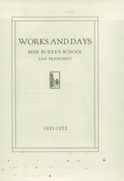 Page 7, 1922 Edition, Katherine Delmar Burke School - Works and Days Yearbook (San Francisco, CA) online yearbook collection