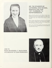 Page 6, 1971 Edition, Cathedral High School - La Nouvelle Yearbook (San Francisco, CA) online yearbook collection