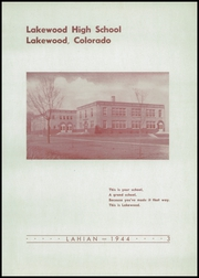 Page 7, 1944 Edition, Lakewood High School - Lahian Yearbook (Lakewood, CO) online yearbook collection