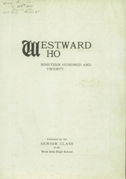 Page 3, 1920 Edition, West High School - Westerner Yearbook (Denver, CO) online yearbook collection