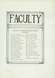 Page 9, 1920 Edition, West High School - Westerner Yearbook (Denver, CO) online yearbook collection