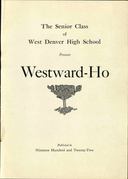Page 5, 1922 Edition, West High School - Westerner Yearbook (Denver, CO) online yearbook collection