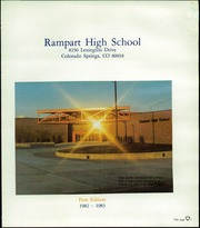 Page 5, 1983 Edition, Rampart High School - Rampages Yearbook (Colorado Springs, CO) online yearbook collection