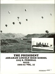 Page 5, 1987 Edition, Lincoln High School - President Yearbook (Denver, CO) online yearbook collection