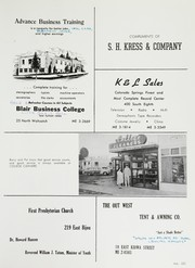 Page 227, 1958 Edition, Palmer High School - Terror Trail Yearbook (Colorado Springs, CO) online yearbook collection