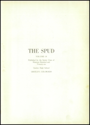 Page 5, 1926 Edition, Greeley Central High School - Spud Yearbook (Greeley, CO) online yearbook collection