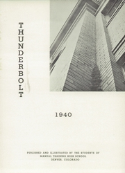 Page 5, 1940 Edition, Manual High School - Thunderbolt Yearbook (Denver, CO) online yearbook collection