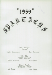 Page 5, 1959 Edition, Widefield High School - Spartacus Yearbook (Colorado Springs, CO) online yearbook collection