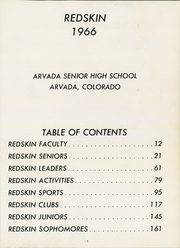 Page 7, 1966 Edition, Arvada High School - Redskin Yearbook (Arvada, CO) online yearbook collection