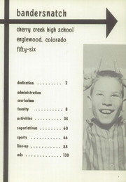 Page 5, 1956 Edition, Cherry Creek High School - Yearbook (Englewood, CO) online yearbook collection