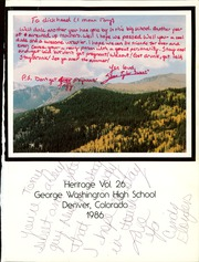 Page 5, 1986 Edition, George Washington High School - Heritage Yearbook (Denver, CO) online yearbook collection