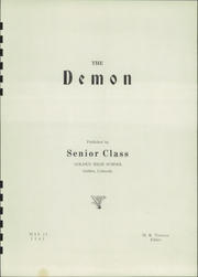 Page 5, 1941 Edition, Golden High School - Yearbook (Golden, CO) online yearbook collection