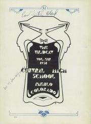 Page 7, 1931 Edition, Central High School - Wildcat Yearbook (Pueblo, CO) online yearbook collection
