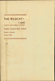 Page 8, 1936 Edition, Central High School - Wildcat Yearbook (Pueblo, CO) online yearbook collection